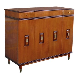 A Handsome and Rare American Mid-Century Walnut Dressing Cabinet by John Widdicomb