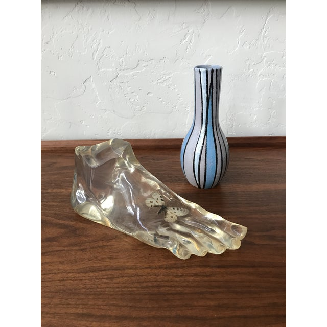 Transparent 1960s Vintage Acrylic Foot Sculpture For Sale - Image 8 of 8