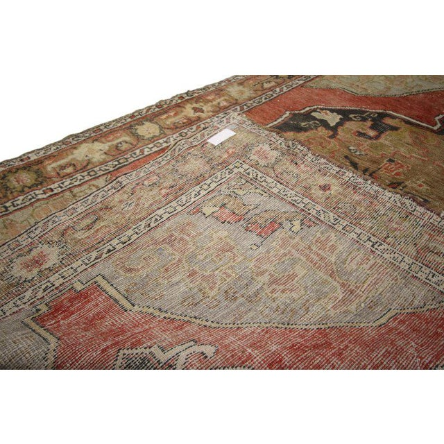 Mid 20th Century 20th Century Turkish Oushak Rug For Sale - Image 5 of 6