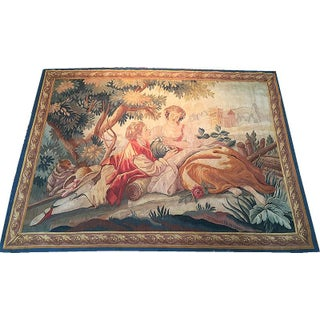 Antique French Wall Hanging Tapestry For Sale