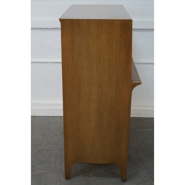 Mid-Century Modern Drexel Profile Mid-Century Walnut Tall Chest For Sale - Image 3 of 10