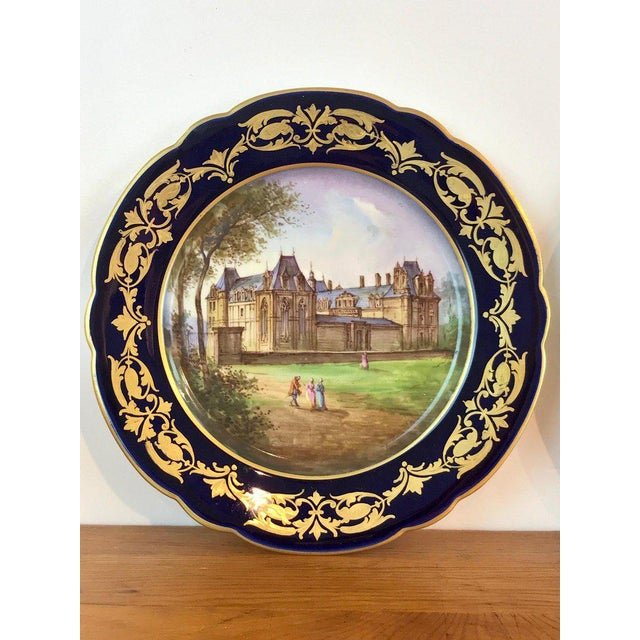 Late 19th Century Pair of Sevres Chateau Plates For Sale - Image 5 of 13