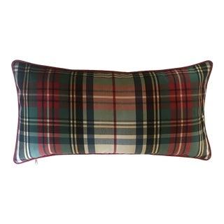 Custom Wool Plaid Pillow For Sale