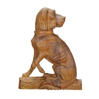 A Fine Carved Statue of a Staghound, Circa 1920 For Sale