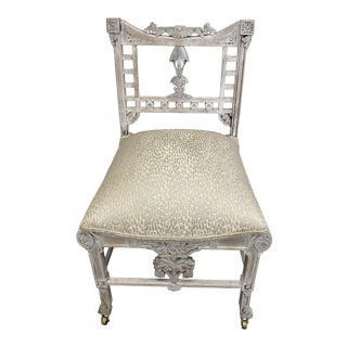 1910s Antique Vanity Slipper Chair For Sale