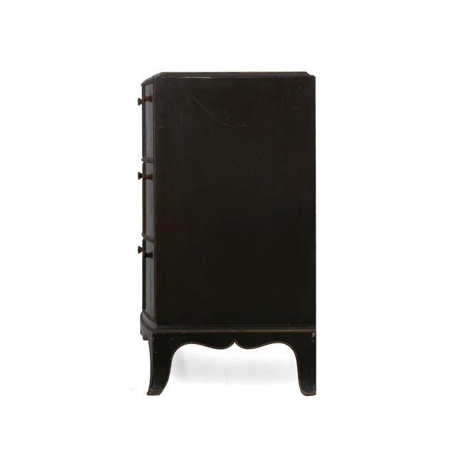 Art Deco Art Deco Chinoiserie Mirrored Top Chest of Drawers Dresser Circa 1940s For Sale - Image 3 of 13