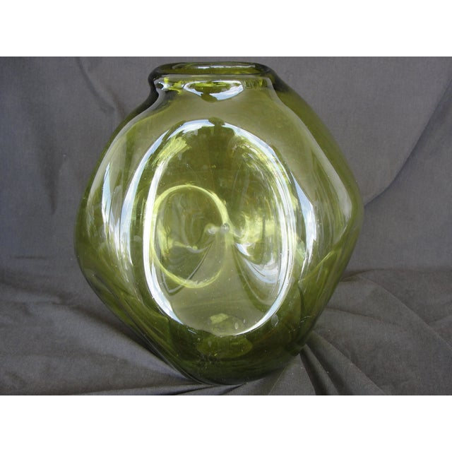 Vintage Hand Blown Pinched Art Glass Vase - Image 3 of 9