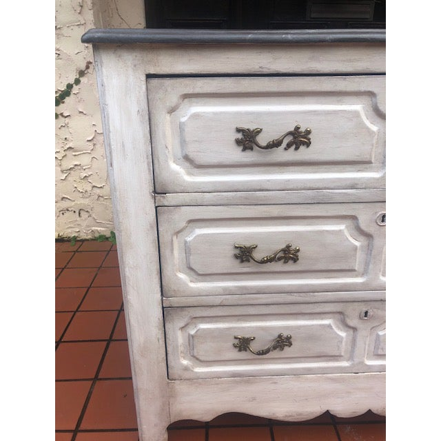 19th Century White Painted Chest For Sale - Image 4 of 8