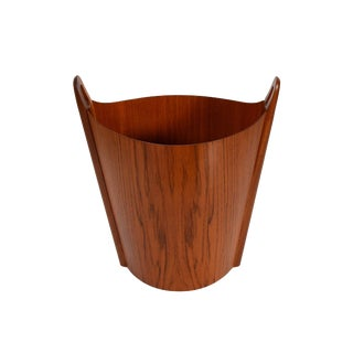 Danish Modern Walnut Wastepaper Basket For Sale