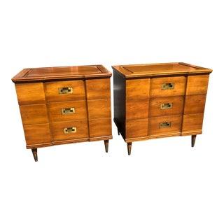 Pair of John Widdicomb Nightstands For Sale