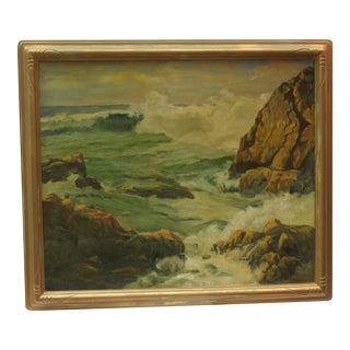 Winslow Homer Inspired Maine Landscape Oil Painting