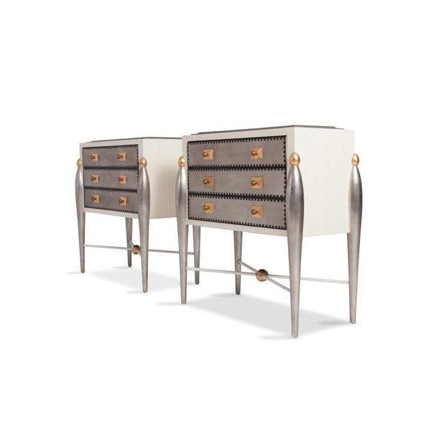 Hollywood Regency Hollywood Regency Glam 1970s Drawer Cabinets For Sale - Image 3 of 11