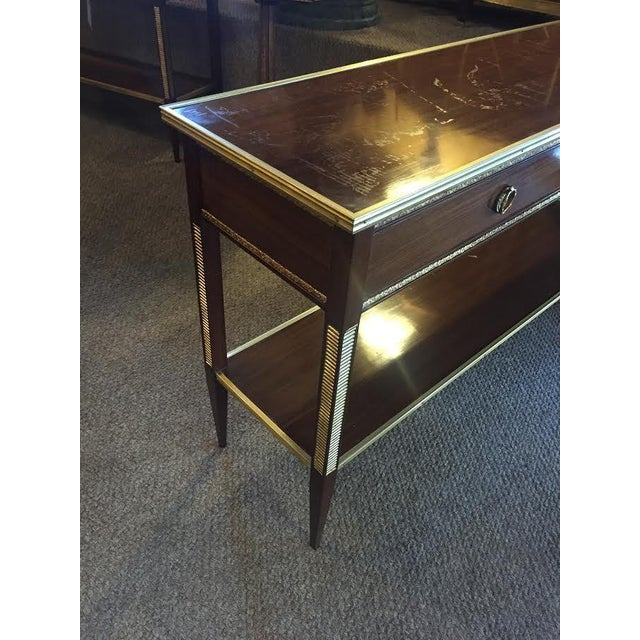 Two Drawer Bronze Mounted Console Tables - Pair - Image 5 of 8