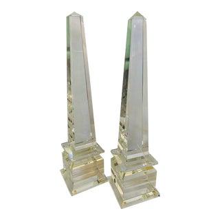 Veritos Crystal Obelisks - a Pair For Sale
