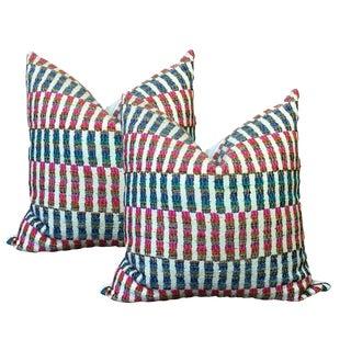 Linen Striped Pillows - a Pair
