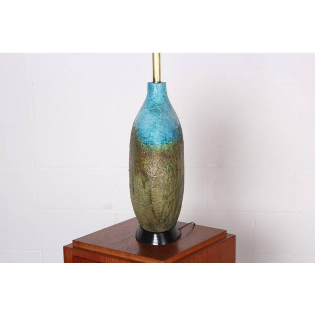 Large Ceramic Lamp by Raymor - Image 5 of 10
