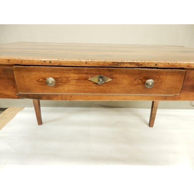 Directoire' Provincial Walnut Farm Table/Desk For Sale In New Orleans - Image 6 of 8