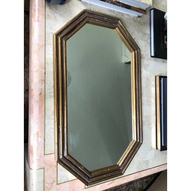 Vintage Faux Bamboo Octagonal Mirror - Image 2 of 5