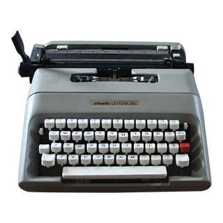 Vintage Olivetti Lettera 35 Typewriter For Sale