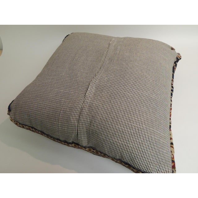 Vintage Large Cotton Velvet Floral Turkish Floor Pillow For Sale - Image 4 of 5