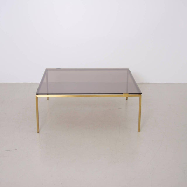 Elegant Brass and Glass Coffee Table in the Manner of Maison Jansen For Sale - Image 4 of 6