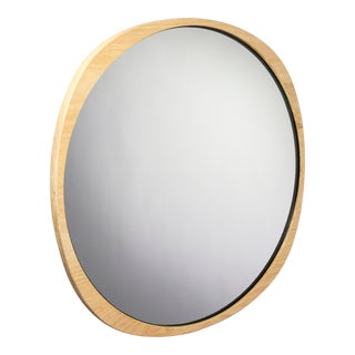 Contemporary Natural Ash Frame Clear Fade Mirror For Sale
