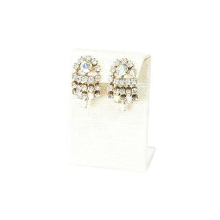 60's Fringe Rhinestone Earrings For Sale