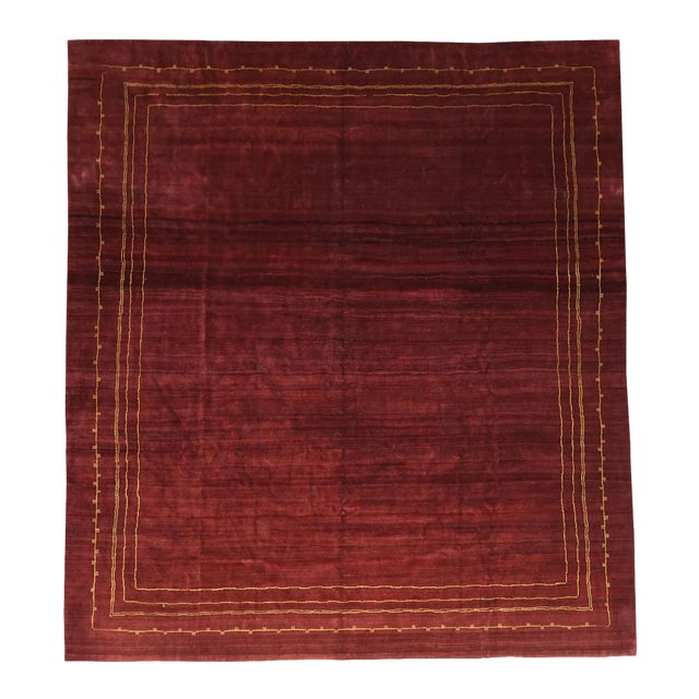 Boccara Exclusive Monochrome Wool Rug, Bordeaux For Sale