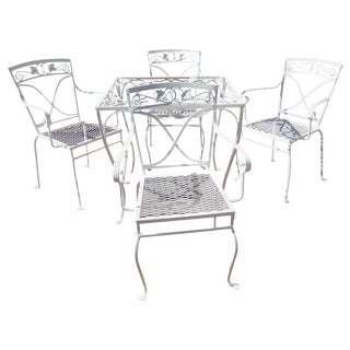 Salterini Card Table and Chairs Mt Vernon Pattern For Sale