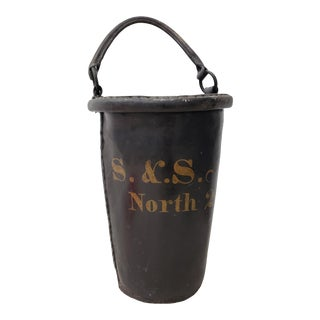 Antique 19th Century Leather Fire Bucket For Sale