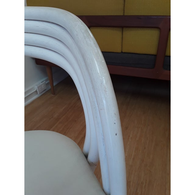 White Painted Dutch Bentwood Armchairs by Jan Des Bouvrie for Rohé Noor - Set of 4 For Sale In Boston - Image 6 of 10