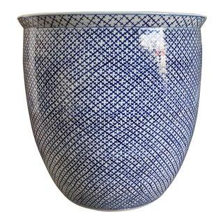 Asian American Ceramic Planter For Sale