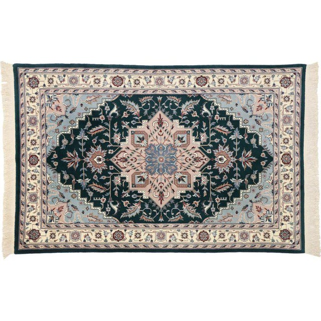 Late 20th Century Persian Style Tabriz Design Rug - 5′9″ × 8′9″ For Sale - Image 4 of 6