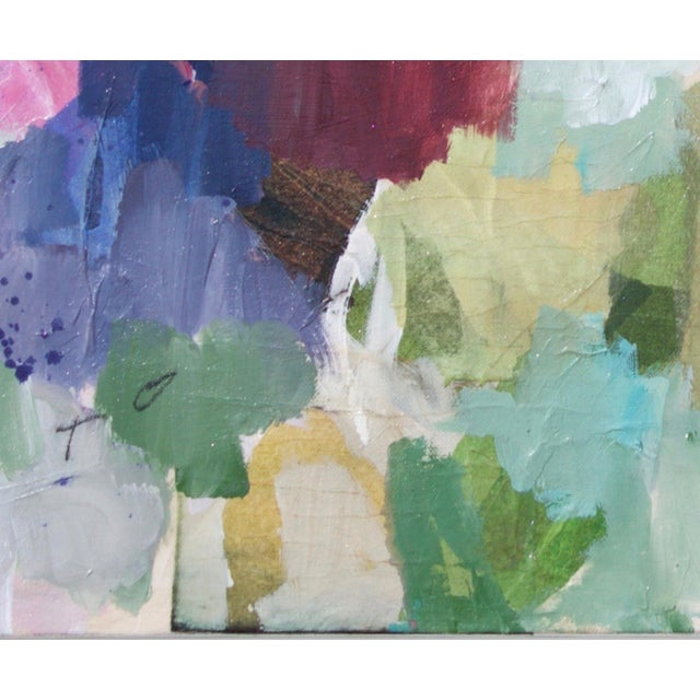 """Original Mixed Media Painting on Stretched Canvas """"Working Up the Nerve"""" - Image 3 of 7"""