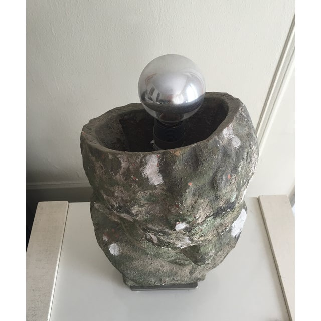 Distressed Stoneware Bust Lamps - Pair - Image 4 of 4