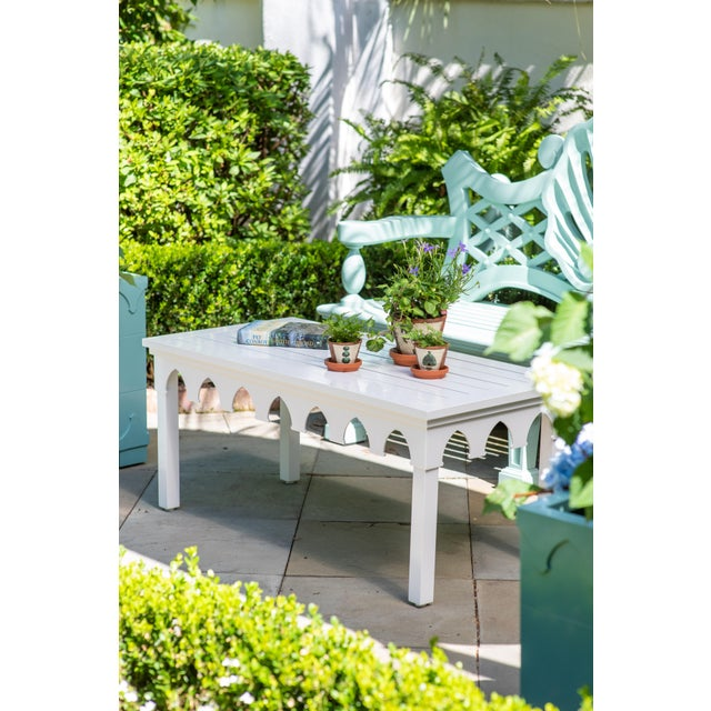 American Oomph Ocean Drive Rectangle Outdoor Coffee Table, Green For Sale - Image 3 of 7