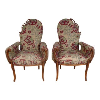 1940s Hollywood Regency Fantasy Chairs Belonging to the Late David Bowie - a Pair For Sale
