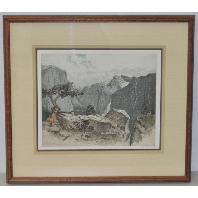 Yosmite Valley Etching by Josef Eidenberger For Sale - Image 4 of 9