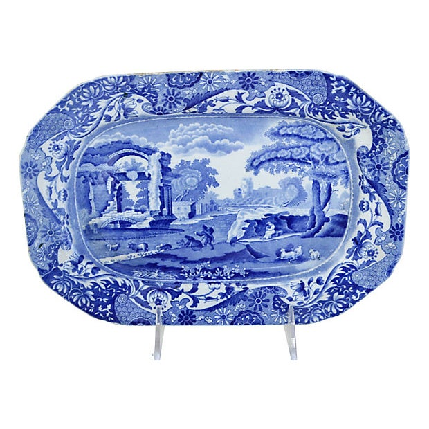 English Traditional Copeland Spode Italian Wall Platter For Sale - Image 3 of 3