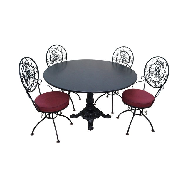 5-Piece Scrolled Iron Bistro Dining Set - Image 1 of 10