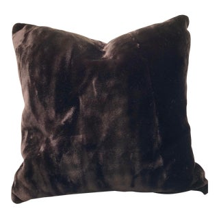 """Dark Chocolate Brown Faux Fur 30"""" Dog Bed For Sale"""