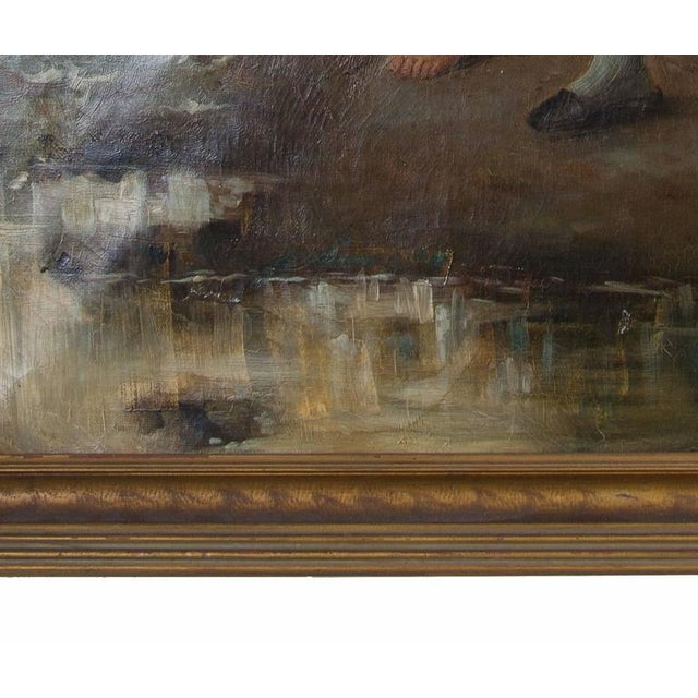 19th Century Oil on Canvas After Fernand Marie Eugene Le Gout-Gerard For Sale - Image 4 of 4