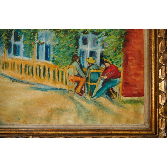 Large Impressionist Oil Painting of a French Street Scene For Sale - Image 9 of 13