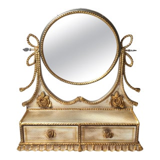 20th Century Decorative Standing Vanity Mirror For Sale