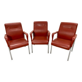Poltrona Frau Leather Armchairs by - Set of 3 For Sale