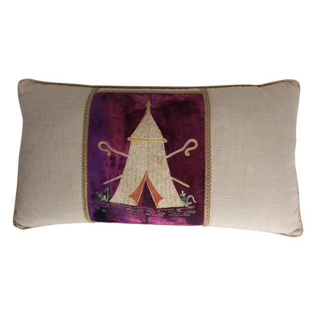 """Masonic """"Tent"""" Embroidered Pillow For Sale"""
