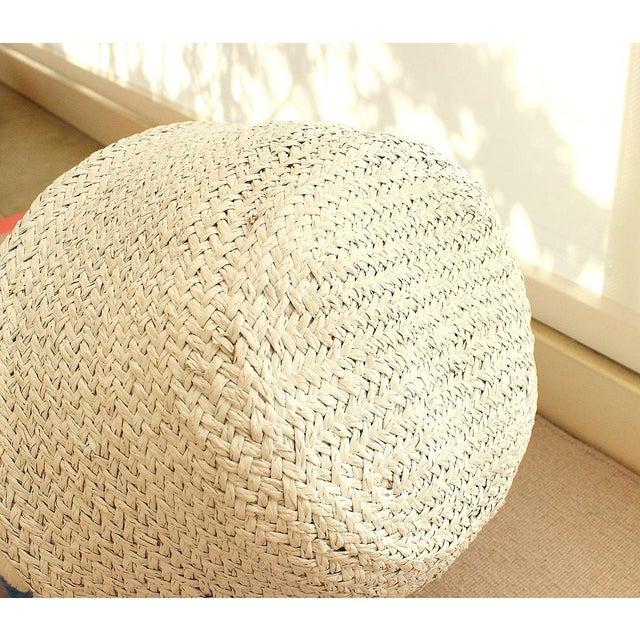 Sea Grass & White Pom Pom Basket - Image 8 of 9