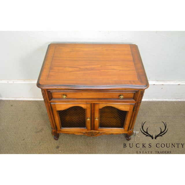 Fruitwood Kindel Beauclair French Louis XV Style Vintage Fruitwood Nightstand For Sale - Image 7 of 13