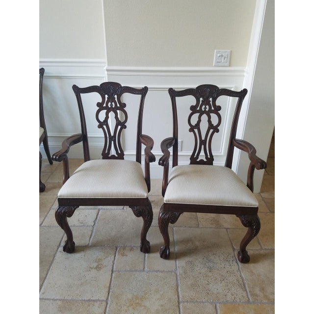 Ethan Allen Chauncey Dining Chairs - Set of 6 - Image 4 of 11