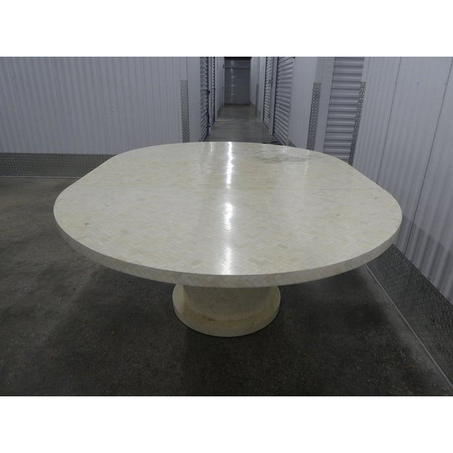 Enrique Garcel Tessellated Bone Dining Table W 2 Leaves For Sale - Image 9 of 13